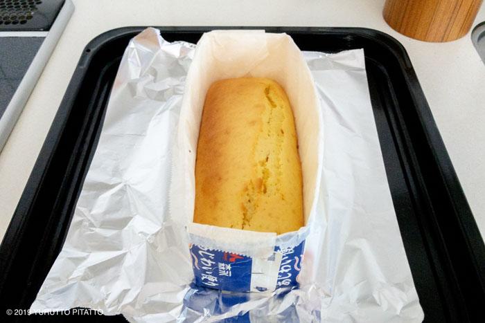 牛乳パックで作るパウンドケーキ