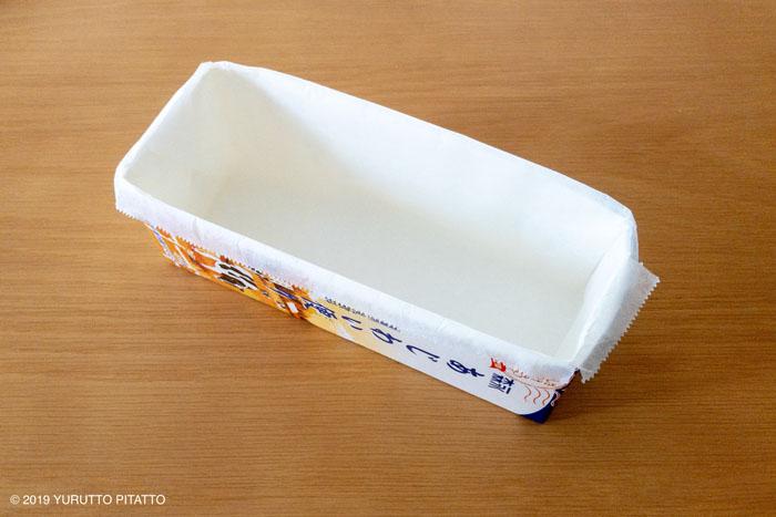 牛乳パックで作るパウンドケーキ型