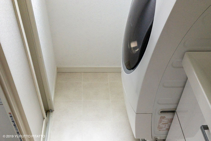 賃貸洗面所の床DIY後