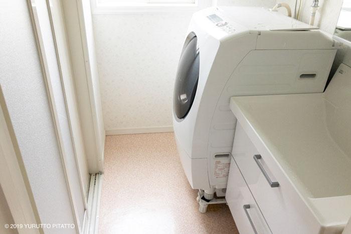 DIY前の賃貸洗面所