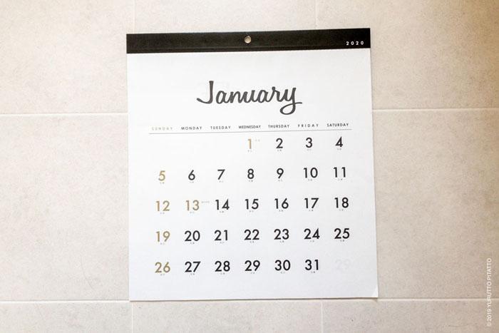 おしゃれな100均Seriaカレンダー2020