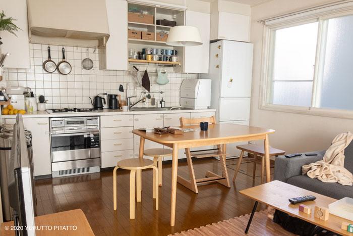 賃貸一軒家のキッチン