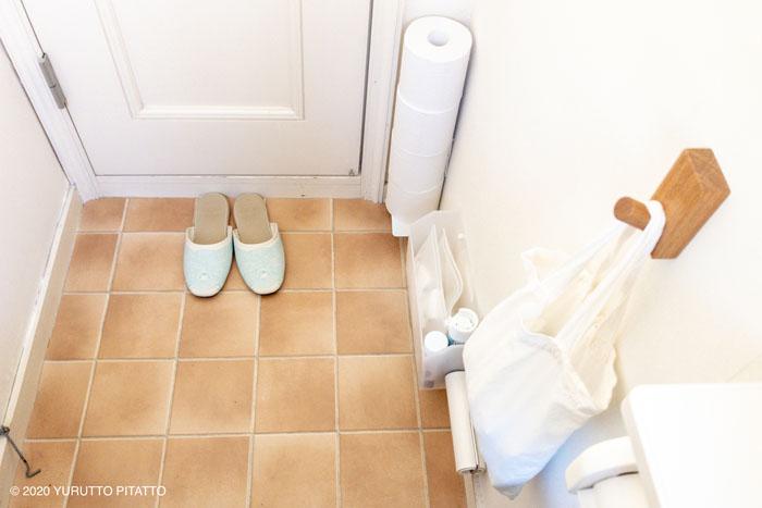 トイレの浮かせる収納