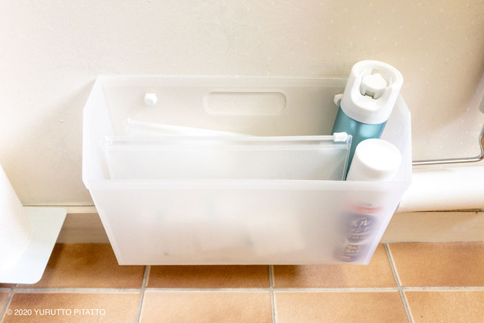 100均グッズを使ったトイレ掃除グッズの浮かせる収納