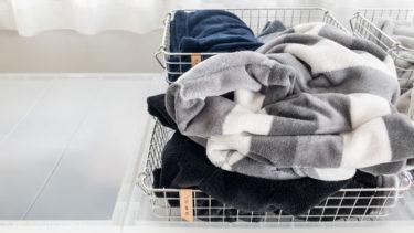 【無印良品】パジャマの一時置き。「脱ぐ場所」に「投げ入れるだけ」の収納がおすすめ。
