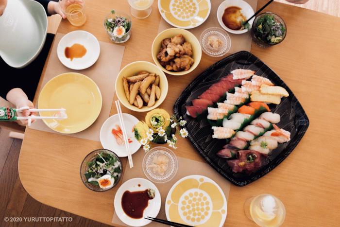 スシローのお寿司で誕生日祝い