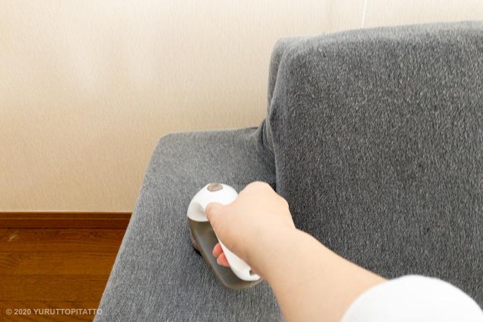 毛玉取り器でソファーのお手入れ