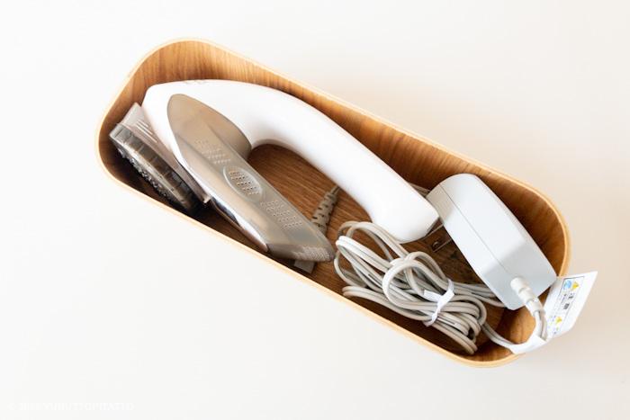 毛玉取り器の収納は無印の木製ケース