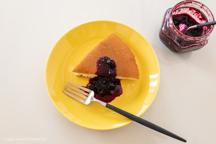 ティーマハニーとはブルーベリージャムのかかったホットケーキ