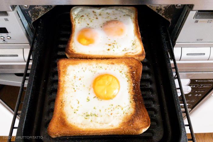 マヨネーズ不要のラピュタパンを魚焼きグリルで焼く
