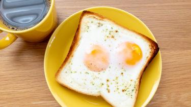マヨなしラピュタパンの作り方。卵と食パンだけで低カロリー!フライパンもレンジも不要。