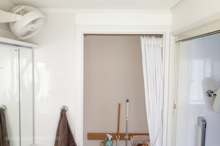 賃貸洗面所に扇風機・サーキュレーターを壁掛け
