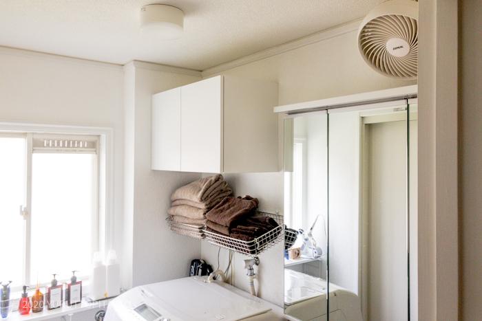 賃貸洗面所の壁掛け扇風機・サーキュレーター