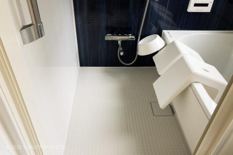 浴室の床には何も置かない