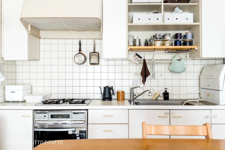 シンプルでスッキリを目指した賃貸キッチン